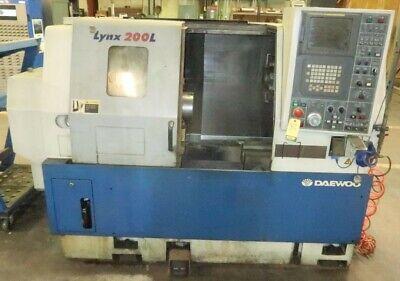 2001 Daewoo Lynx 200 Lc Cnc Lathe Machine