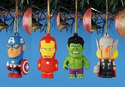CHRISTBAUMSCHMUCK Weihnachten Xmas Deko Iron Man Hulk Thor Captain America K1155 ()