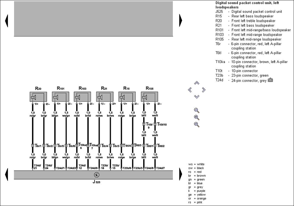 Amplifier03 Jpg   I Need The Wiring Diagram For The Phaeton Amplifier Part Number 3d0035466d