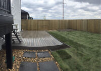 Fence and Deck construction - backyard projects