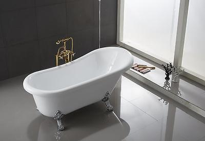 Ringsted Oval Shaped Acrylic Claw foot Bath Tub Freestanding Bathtub - Acrylic Oval Freestanding Tub