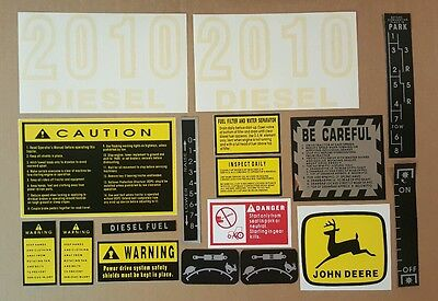 John Deere Tractor 2010 Hood Decal Set