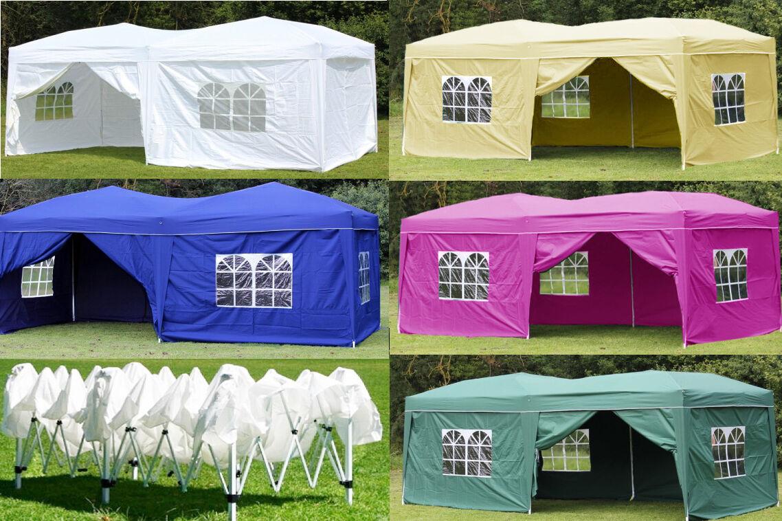 10X20' Outdoor EZ Pop Up Tent Folding Gazebo Wedding Party C