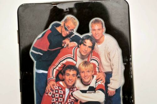 vintage Backstreet Boys 90s tin metal PENCIL BOX, Case, tray / bsb boyband