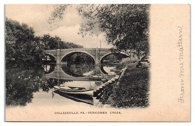 Early 1900s Perkiomen Creek, Collegeville, PA Postcard