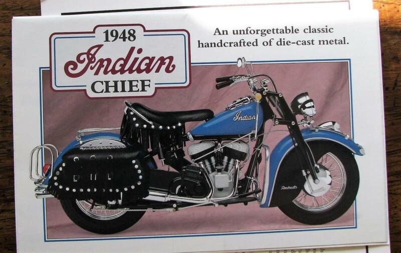 Danbury Mint 1948 Indian Chief Motorcycle 1:10 Diecast  W/Papers