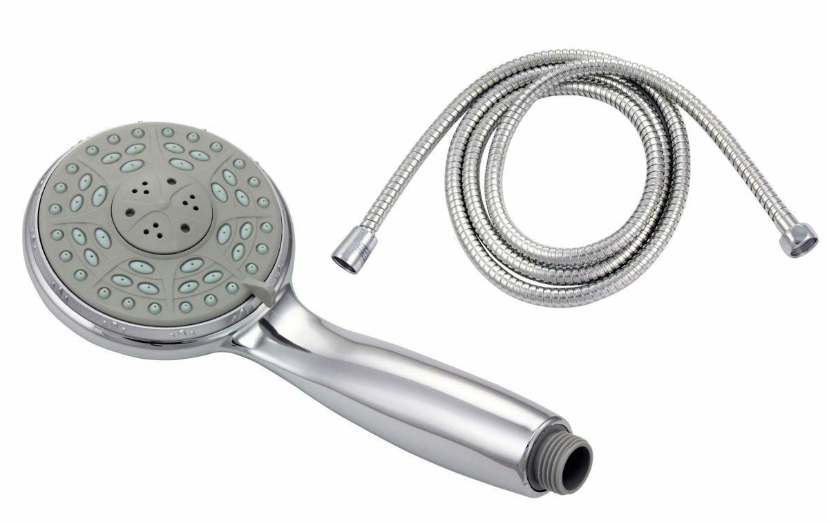 Duschkopf Handbrause mit Funktionen Duschbrause inkl. Brauseschlauch 2 m