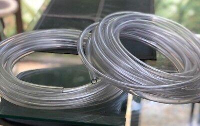 2 38 Clear Vinyl Tubing Pcv Hvac Drain Hose Ac Condense Pump 28ft And 35ft