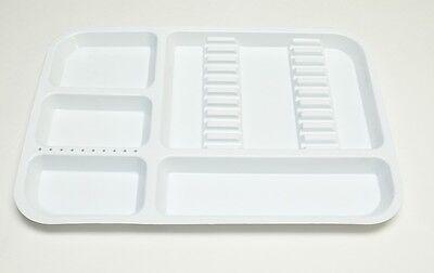 Dental Instrument Set Up Tray Includes Bur Holder Section 311-2520 Color White
