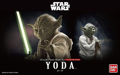 Bandai 1/6 & 1/12 Scale Model Character Figure Kit Star Wars Jedi Master Yoda