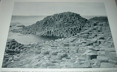 1892 Antique Print Giants Causeway Ireland Basalt Antrim Coast North Sea