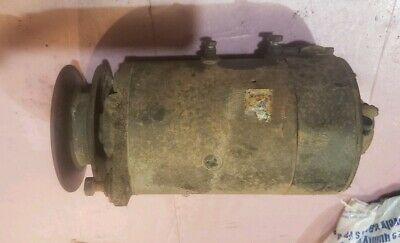 Massey Harris 44 Tractor 6v Generator With Wide Pulley Mh Parts Good Generator