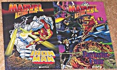 Promotional Four - MARVEL ACTION HOUR RARE GIVEAWAY PROMO FANTASTIC FOUR 4 IRON MAN PROMOTIONAL NM