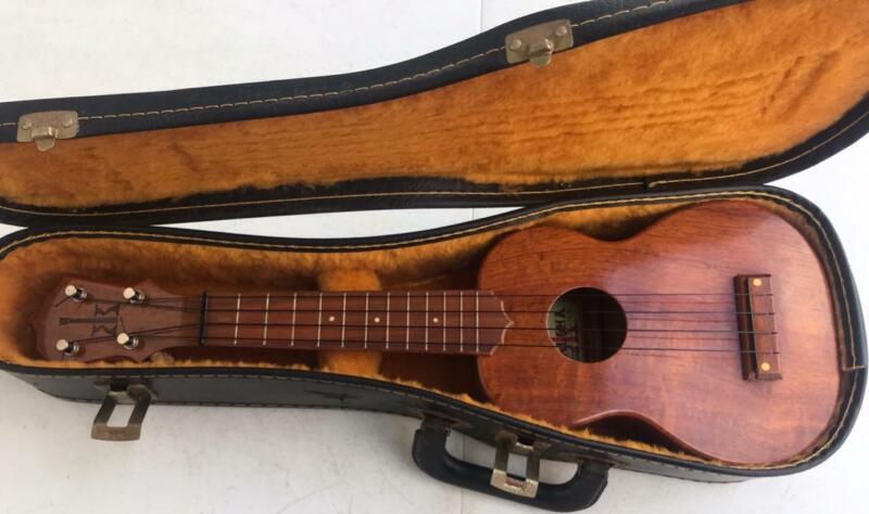 KoAloha Koa Wood Soprano Ukulele Made In Hawaii Vintage w/ Hard Case