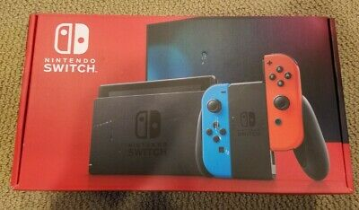Nintendo Switch 32GB Console w/ Neon Blue & Neon Red Joy Con *NEW IN HAND*