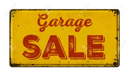 Garage sale Sunday 18/3 woodcroft