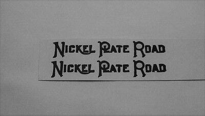 NICKEL PLATE ROAD TENDER CLEAR WATERSLIDE 2 DECAL PER SET LOOK!