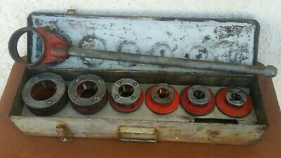 Ridgid Pipe Threader Die Set 6 12-r Dies 38 - 2 W Steel Case Made In Usa