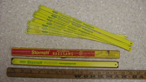 19 NOS Starrett Green Stripe Hacksaw Blades,Incl. 10-SF1218-3 In Box,& 9 SF1218