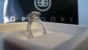 NEW. 18K WHITE GOLD LADIES DIAMOND DRESS or ENGAGEMENT RING