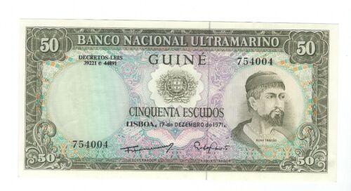 Guinea - Fifty (50) Escudos,  1971 AU