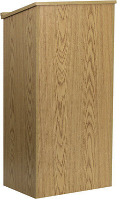 Oak Stand Up Lectern Podium with Adjustable Shelf