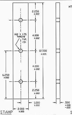 12.5 Long New Scotchman 4014c Ironworker Shear Blades