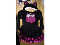 Halloween cat dress 6-12 months