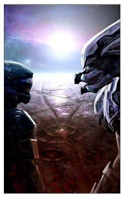 Halo Reach Evolutions Blue Red and/or Green Fine Art - See Reflections in Mask