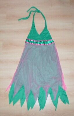 Damen Kostüm Zipfelkleid Elfe Fee Grün Pink mit - Kostüme Mit Grünem Kleid