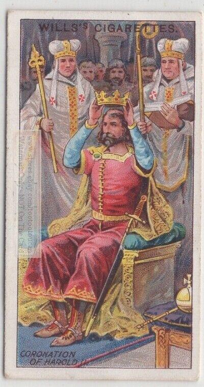 1066 A.D. Coronation Of Harold II Last Anglo-Saxon England King 100 Y/O Ad Card