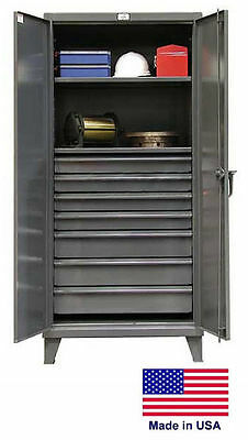 Steel Cabinet Commercialindustrial - Shelves Drawers 27 - 78 H X 24 D X 36 W