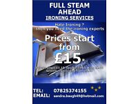 Full steam ahead ironing services