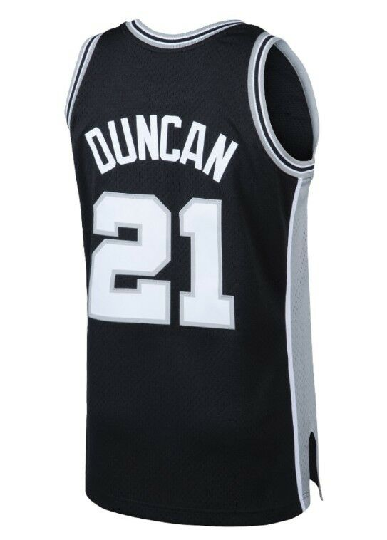 d85ea4203 Tim Duncan  21 San Antonio Spurs Mitchell   Ness NBA Mesh Throwback Jersey  Black