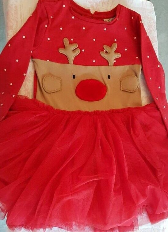 Next Christmas Girls Tutu Dress age 1.5 - 2years