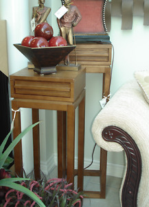 Tall Wood Plant Stands