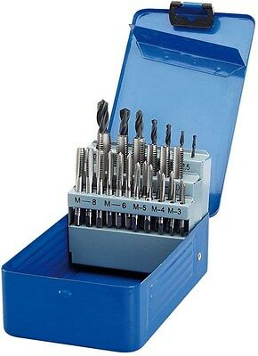 DRAPER 40891 28 PIECE METRIC TAP AND HSS DRILL SET