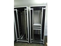 Server rack/cabinet - full size with doors, fans and shelves.