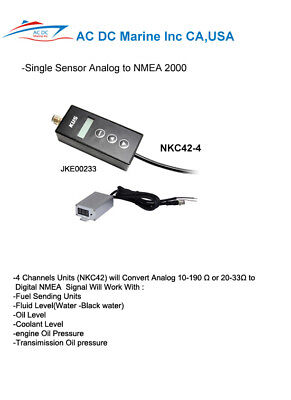 NMEA 2000  converter 4 channel Analog input sensor to NMEA 2000