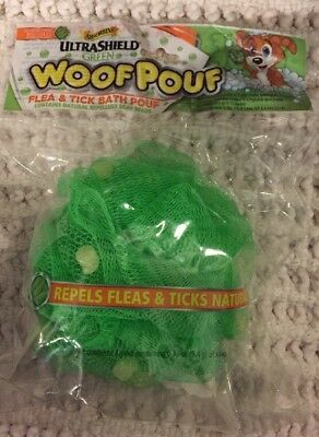Dog Wash Woof Pouf Flea Tick Bath Pouf Natural Soap Beads  Rich lather 15 Washes
