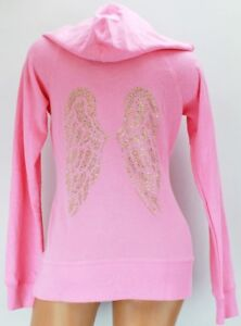 Victoria Secret Pink Angel Wings Hoodie with Necklace