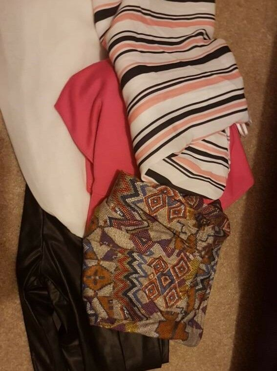 Size 14 and 16 clothes. Some new. Prices on pictures