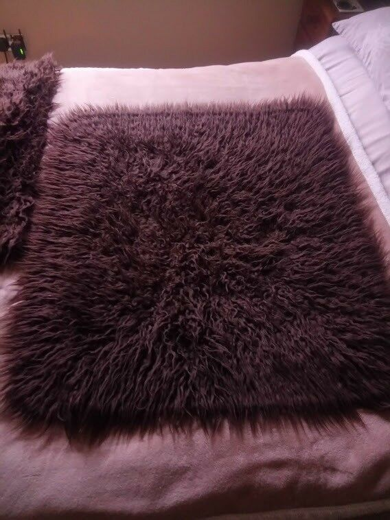 Brown Faux Flokati Rugs Collection