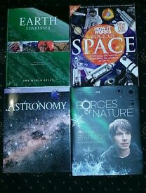 Books about the earth, space and astronomy