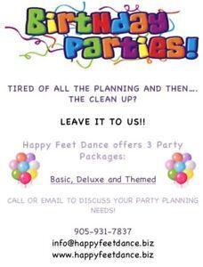 Birthday Parties at Happy Feet Dance