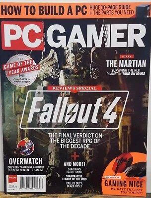 PC Gamer February 2016 Fallout 4 The Martian Gaming Mice FREE SHIPPING CB segunda mano  Embacar hacia Mexico