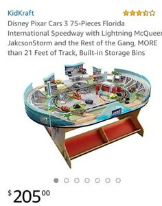 Kid Kraft Disney Cars Wooden Track Lightning McQueen, Cruse
