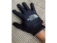 Neoprene North Face and Stone island gloves with rubber palm grip