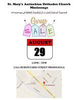ST. MARY ANNUAL GARAGE SALE