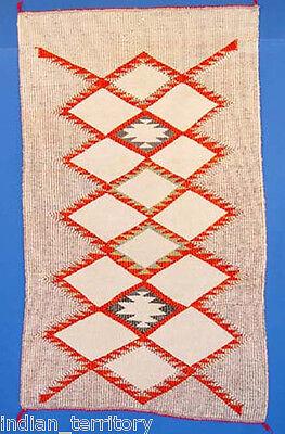 Navajo Indian Rug: Raised Outline Weave c.1950
